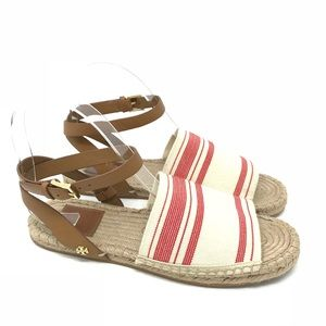 Tory Burch Shoes Striped Espadrille Ankle Strap